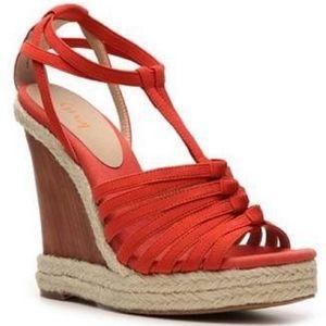 Levity Izzy Wood Wedge Sandals, Size 9M